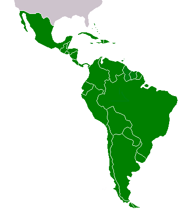 Latin America map 2 green